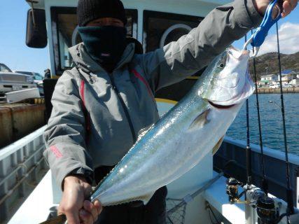 20210228 ブリ系1本(4.0キロ)、マハタ、カサゴetc ルアージギング船魚拓号