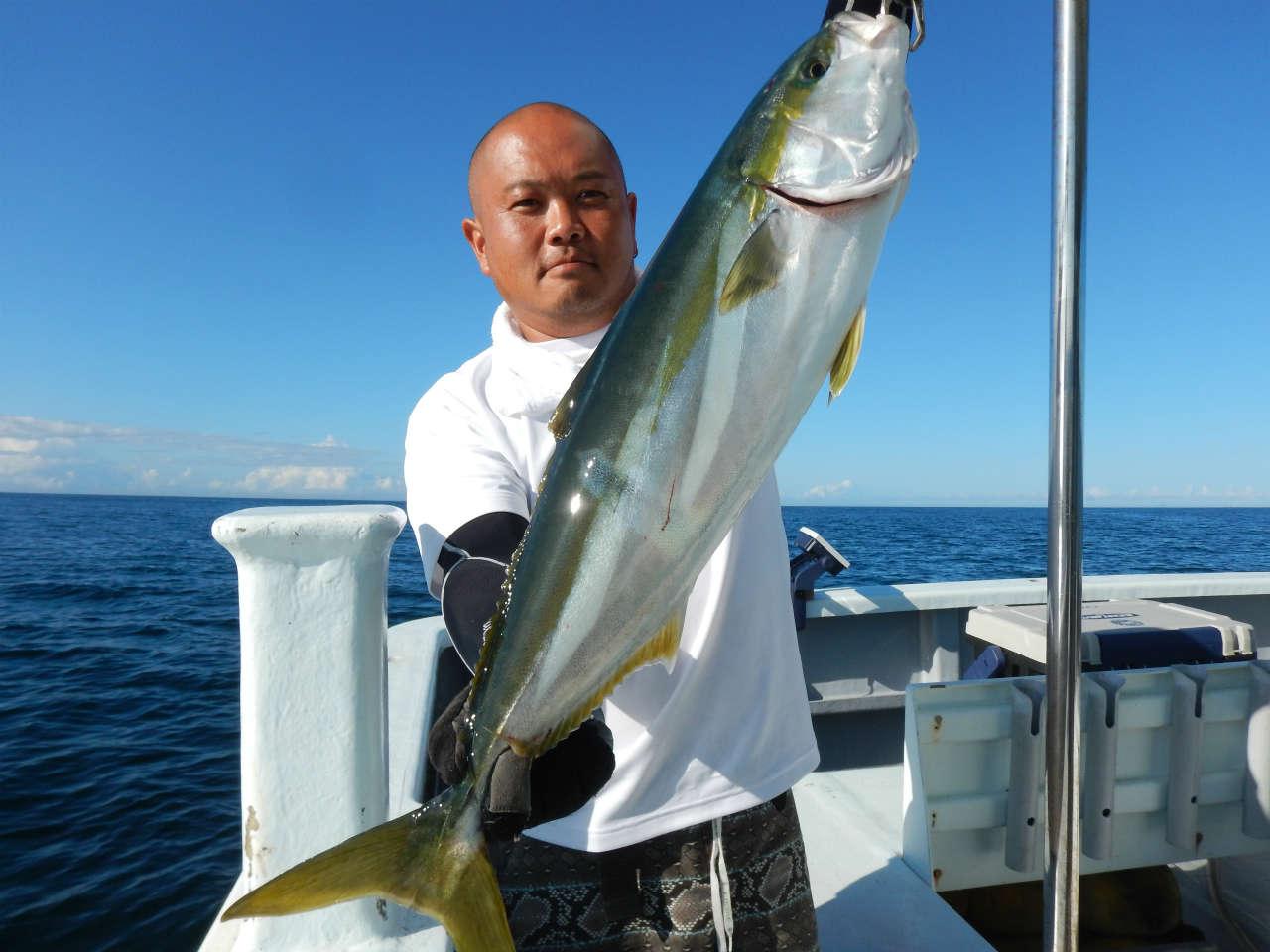20210724 ワラサ3.4キロ1本、サバ等が釣れて終了 ルアー・ジギング船魚拓号