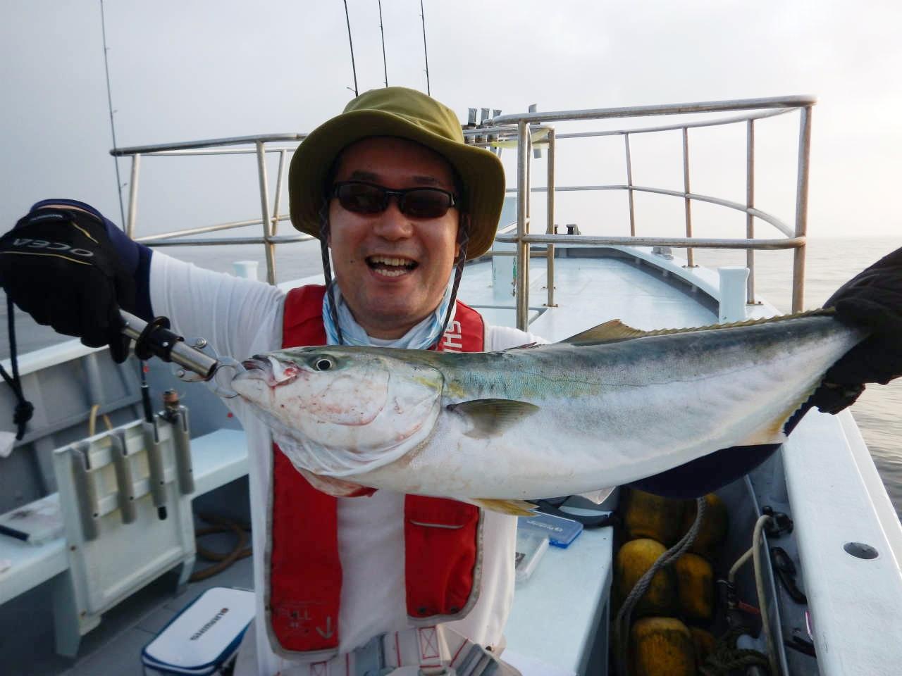 20210828 ワラサ ルアー・ジギング船魚拓号